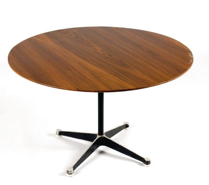 Charles Et Ray Eames Herman Miller Table Basse A Plateau Circulaire En