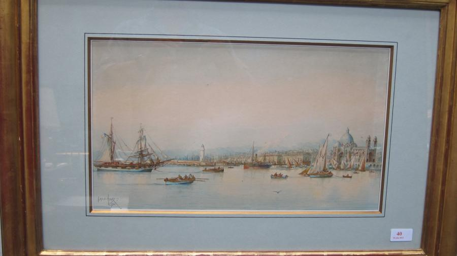 Emile henry le port de marseille la major aquarelle sign e en bas - 5 rue vincent courdouan 13006 marseille ...