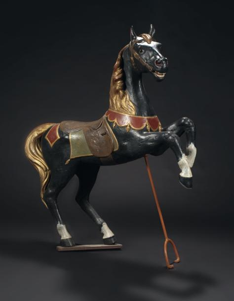 gustave bayol cheval cabr bois sculpt peint france cole d 39 angers vers. Black Bedroom Furniture Sets. Home Design Ideas