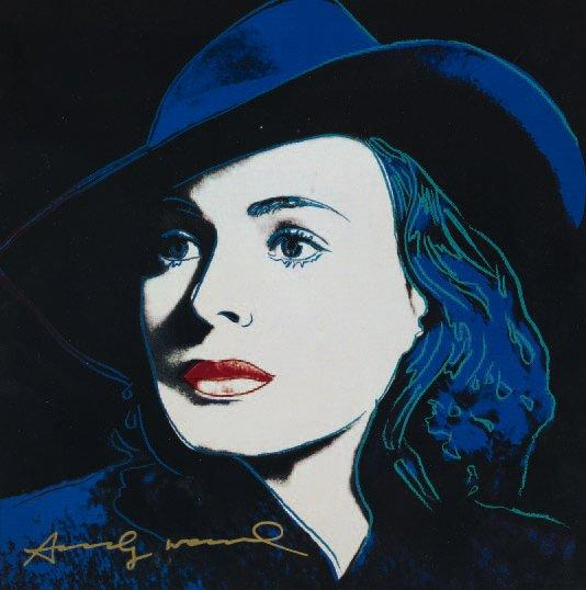Andy warhol ingrid bergman herself 1983 offset sur papier glac sign - Papier peint andy warhol ...