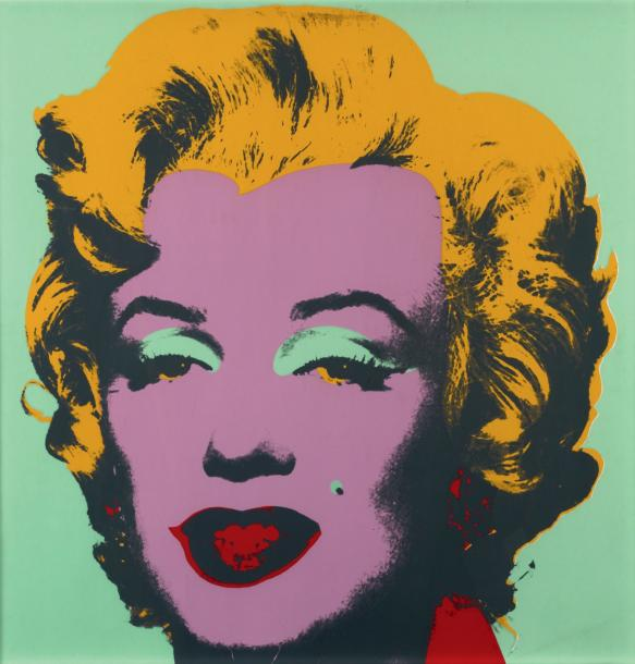 andy warhol marilyn monroe 1967 s rigraphie en couleurs sign e andy. Black Bedroom Furniture Sets. Home Design Ideas