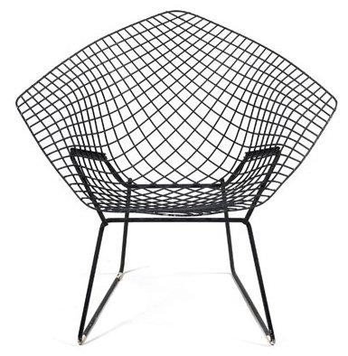 harry bertoia fauteuil diamond ch ssis en treillis de fils d 39 acier laqu. Black Bedroom Furniture Sets. Home Design Ideas