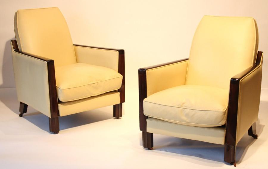 paire de fauteuil art deco paire de fauteuil art d co en bois exotique. Black Bedroom Furniture Sets. Home Design Ideas