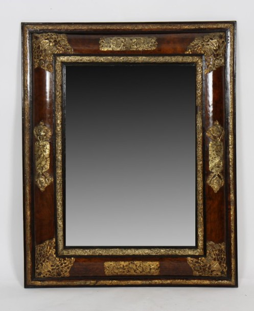 Important miroir louis xiv en placage de bois fruitier for Application miroir ordinateur