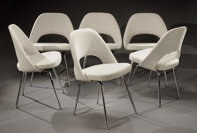 eero saarinen suite de six chaises mod le 72 upc dites conf rence chairs. Black Bedroom Furniture Sets. Home Design Ideas