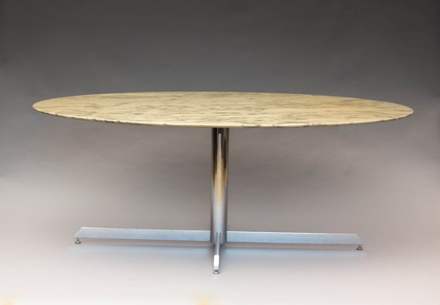 Knoll florence dition roche bobois table de salle for Table noir rallonge