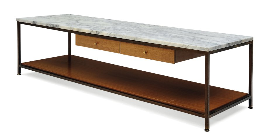Table Basse Tiroir Marbre
