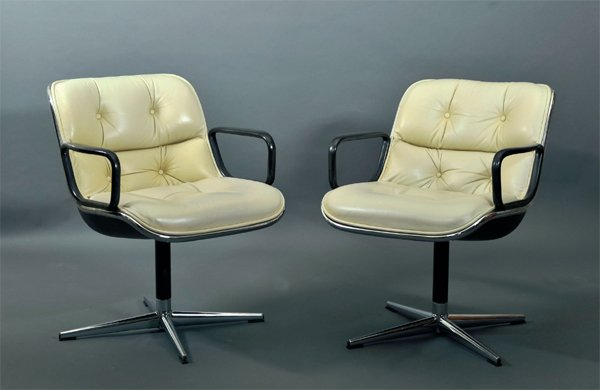 charles pollock paire de fauteuil de bureau circa 1960. Black Bedroom Furniture Sets. Home Design Ideas