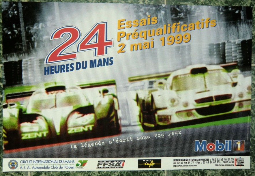2 affiches 24h du mans 1999 affiche essais 1968. Black Bedroom Furniture Sets. Home Design Ideas