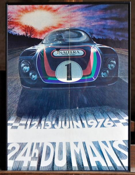 affiche le mans 1976 inaltera 40x50cm. Black Bedroom Furniture Sets. Home Design Ideas