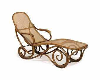 Chaise De Repos En Bois Courbe Et Cannage Marquee Numerotee