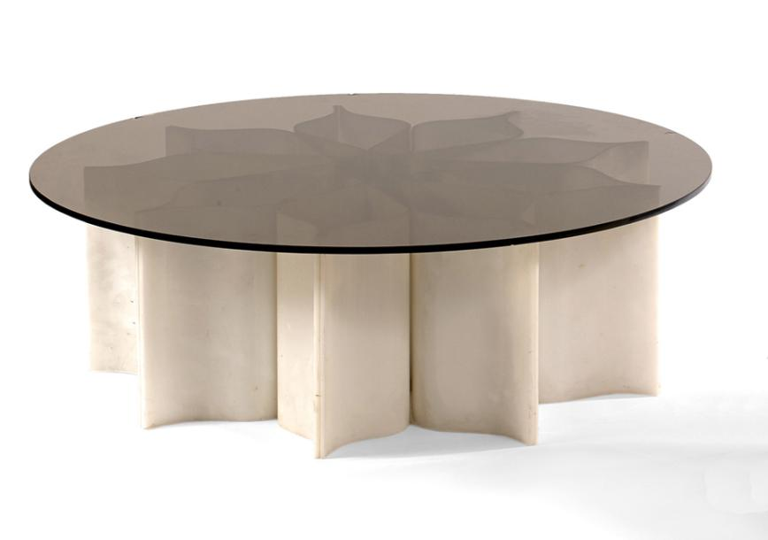 Pierre paulin mobilier national table basse circa 1972 - Table basse pierre paulin ...