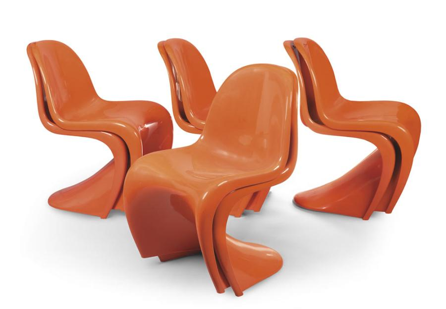 Monobloc Panton Huit Chair Ab En Chaises Stacking Empilables Verner S WIYD29EeH