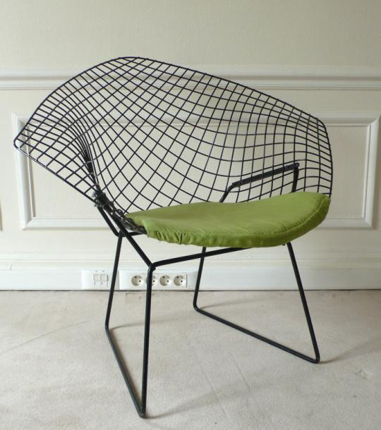 harry bertoia fauteuil diamond mod le 421lu edition knoll cr e en 1952. Black Bedroom Furniture Sets. Home Design Ideas