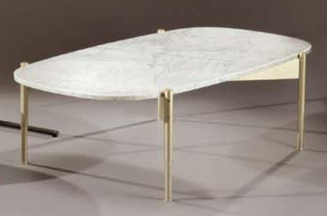 Gio ponti edit par cassina table basse plateau ovale en for Table basse en marbre