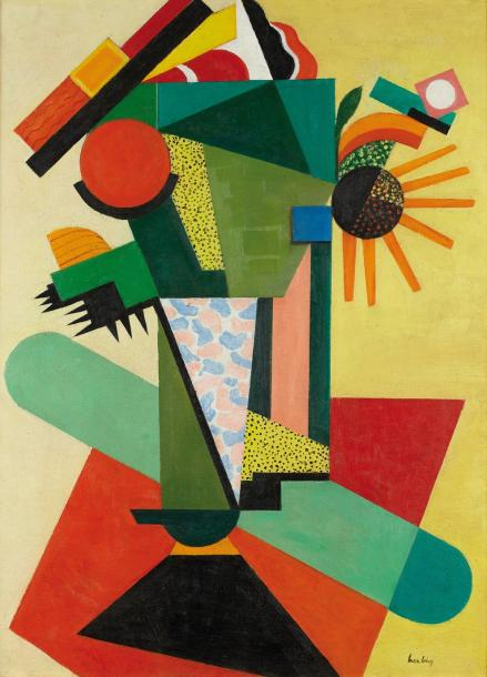 Auguste herbin composition 1917 huile sur toile sign e for Auguste herbin oeuvre