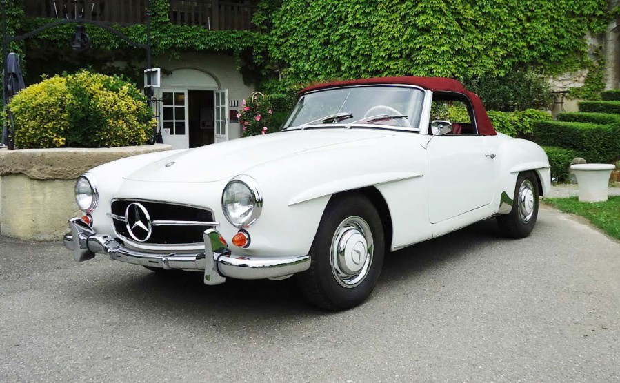 1956 mercedes 190 sl il y 60 ans tait pr sent e la 190. Black Bedroom Furniture Sets. Home Design Ideas