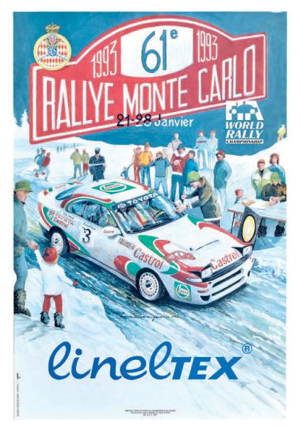 rallye automobile de monte carlo 1993 affiche originale editions aramis. Black Bedroom Furniture Sets. Home Design Ideas