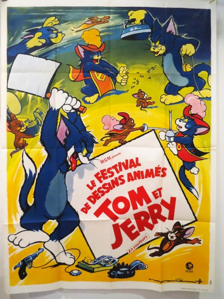Festival tom et jerry dessins anim s mgm affiche 160 x 120 cm dessin - Coloriage tom et jerry ...