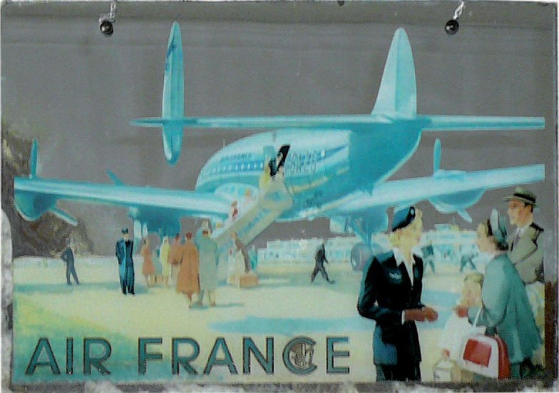 Miroir air france constellation mod le publicitaire for Miroir paris france
