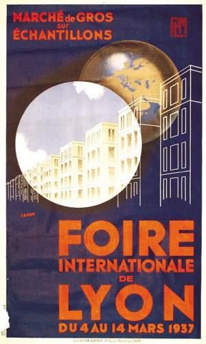 Foire internationale de lyon capon march de gros sur chantillons 1937 - Foire internationale lyon ...