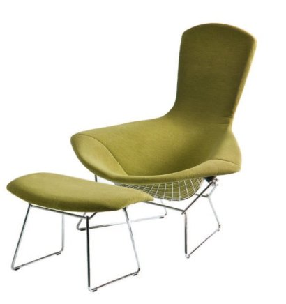 ventes aux ench res paris harry bertoia 1915 1978 fauteuil bird avec otomane mod le de 1950 grand. Black Bedroom Furniture Sets. Home Design Ideas