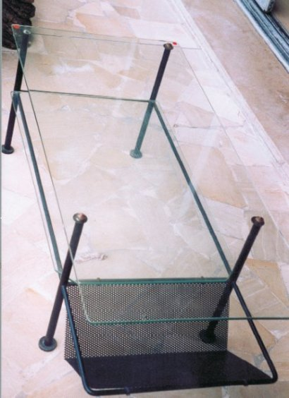 Table basse verre metal 8 ukbix for Table basse verre metal