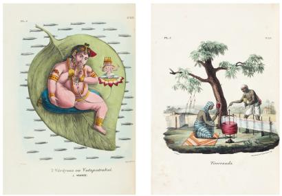 BURNOUF (Eugène) L'Inde française ou Collection de dessins lithogra
