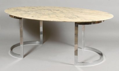 Ventes aux ench res paris dition knoll table plateau for Table knoll ovale marbre blanc