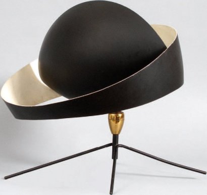 ventes aux ench res paris serge mouille 1922 1988 lampe de table mod le saturne cr ation 1953. Black Bedroom Furniture Sets. Home Design Ideas