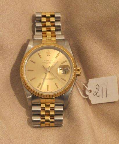 montre or homme rolex