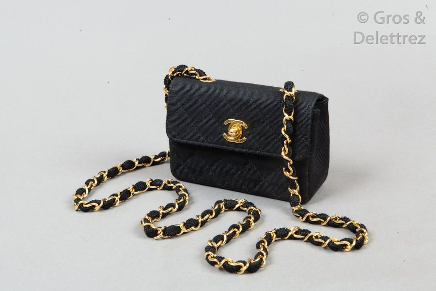 CHANEL par Karl Lagerfeld Collection Prêt à porter Printemps/Été 1988 Sac « Clas…