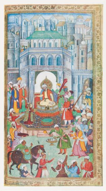 SULEIMAN (Hamid) Miniatures of Babur Nama. (An Album of Miniatures in the babur …