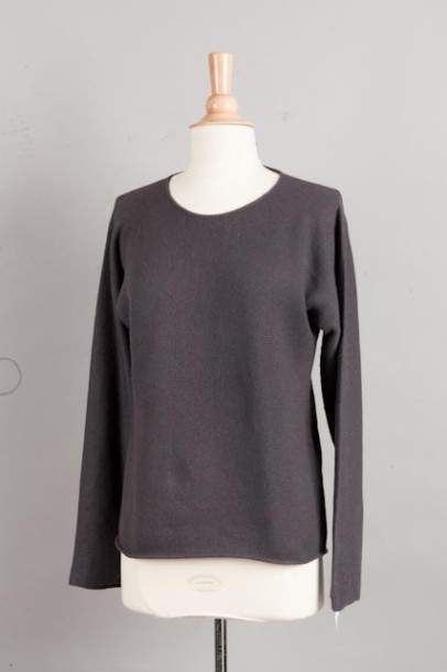HERMÈS Paris made in Italy made in Italy Pull en 100% cachemire anthracite, enco…