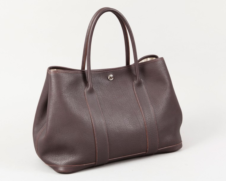 HERMÈS Paris made in France année 2009  *Sac «Garden Party» 36cm en veau Evergra…