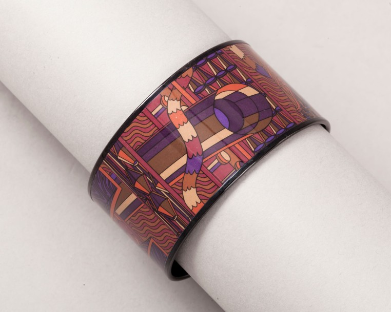 HERMÈS Paris made in France Collection Dip Dye  *Bracelet manchette 38mm «Point …