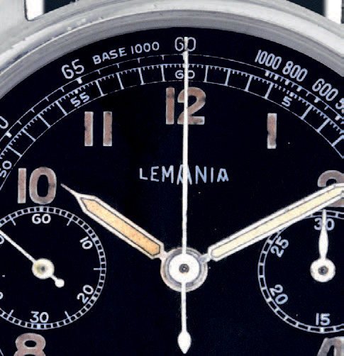 LEMANIA CHRONOGRAPH STEEL Lemania, chronograph, case n°55982. Made circa 1960 Fine…