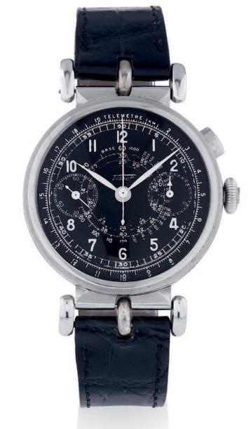 TISSOT SINGLE-BUTTON CHRONOGRAPH, STEEL Tissot, chronograph, n° 834301. Made circa…