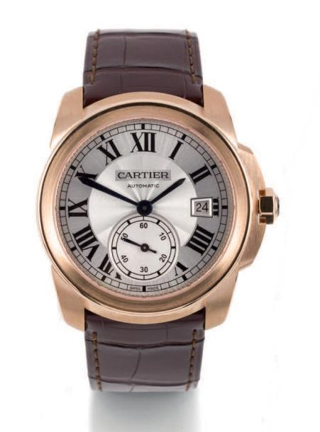 CARTIER CALIBRE PINK GOLD Cartier, Rotonde. Made circa 2012. Fine, self-winding 18k…
