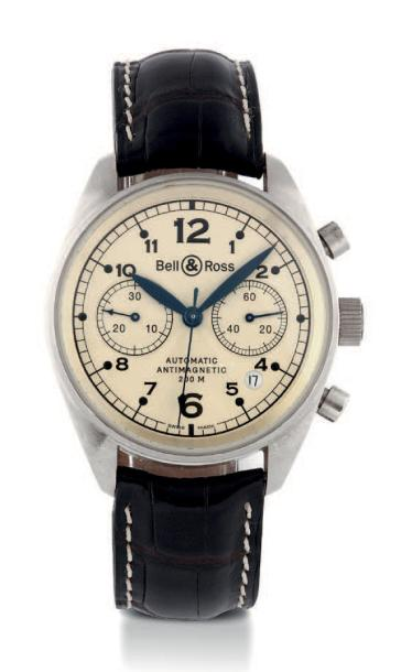 "BELL & ROSS VINTAGE 126 CHRONOGRAPH WHITE GOLD Bell & Ross ""Vintage 126 Black"", White…"