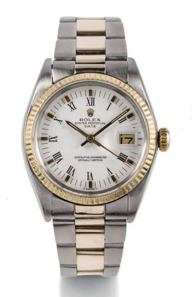 ROLEX DATEJUST, REF. 1500, STEEL AND GOLD Rolex, Oyster Perpetual Date, case No.…
