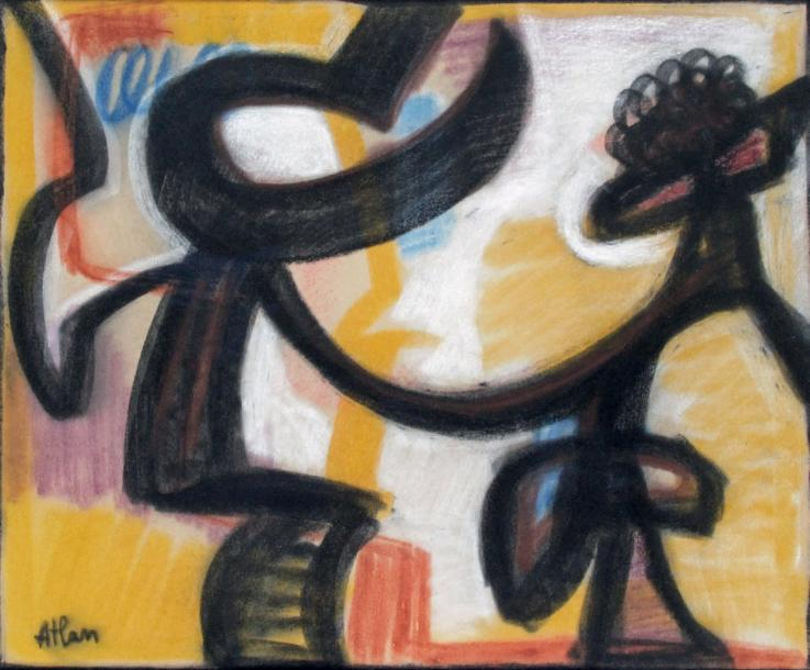 Jean-Michel ATLAN - 1913-1960 COMPOSITION, 1956 Pastel et technique mixte signés…