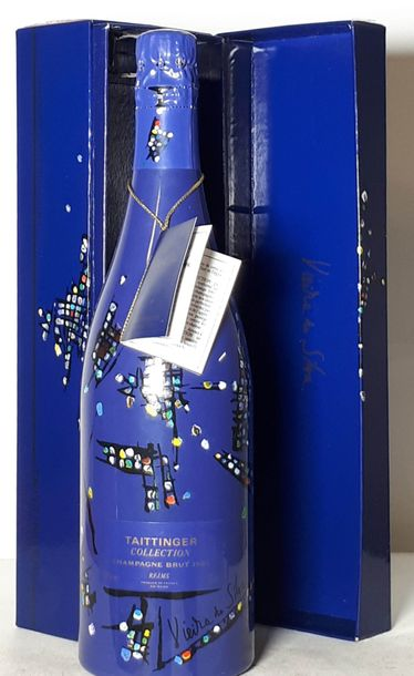 1 B TAITTINGER COLLECTION Roy Lichtenstein (coffret ls) Champagne 1985