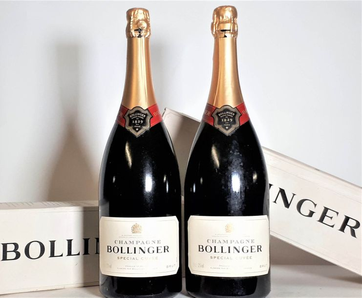 2 Mag BOLLINGER SPECIAL CUVEE. Champagne NM