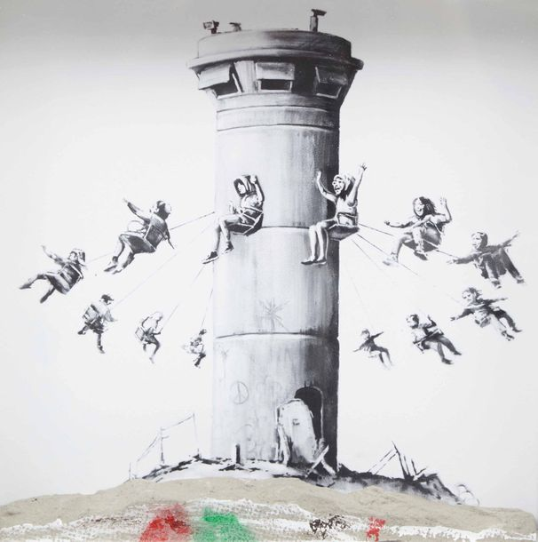 Estampes BANKSY (né en 1974)  Walled off hotel box set, 2017  Impression sur papier…