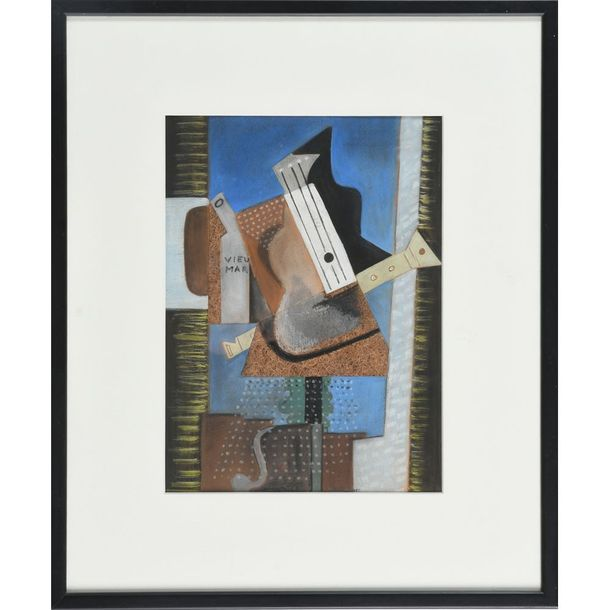WOPFHER Samuel. « Composition cubisante portant l'inscription Vieumar ». Gouache…