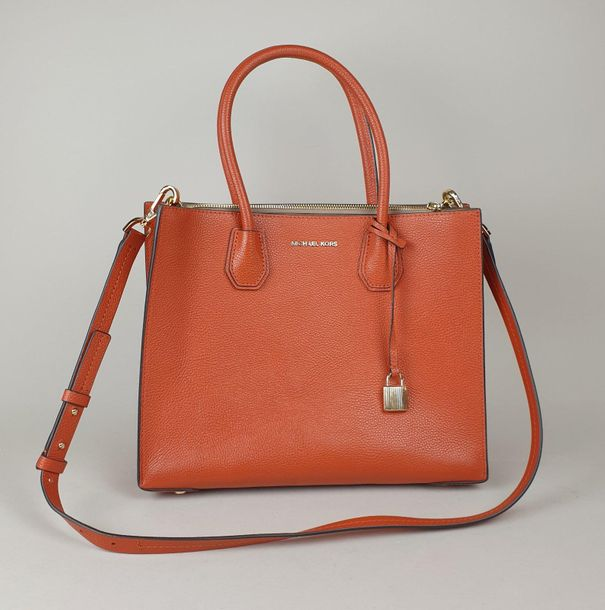 Michael KORS SAC à MAIN couleur rouge orangé