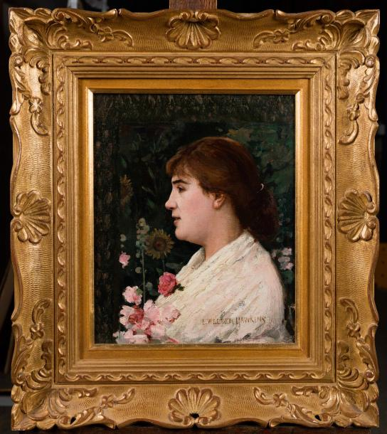louis welden hawkins portrait d une femme de profil toile agrandie. Black Bedroom Furniture Sets. Home Design Ideas