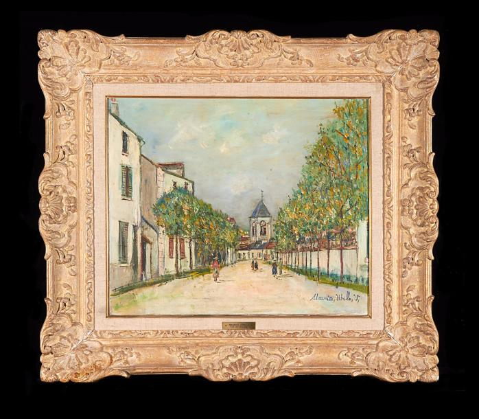 maurice utrillo saint loup sur semouse sign maurice utrillo v huile. Black Bedroom Furniture Sets. Home Design Ideas
