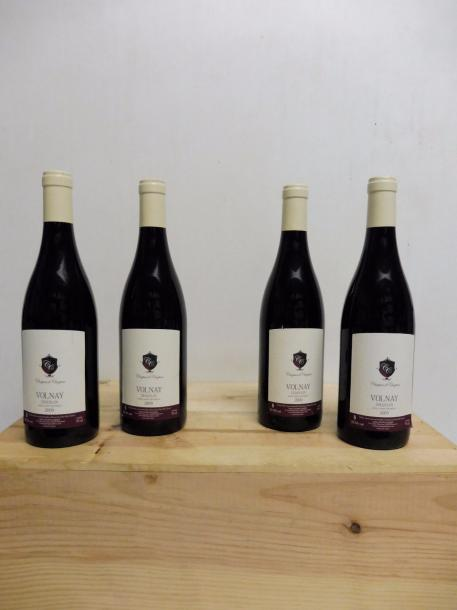 4 bouteilles Volnay Chanlin Chapuis Frères2009